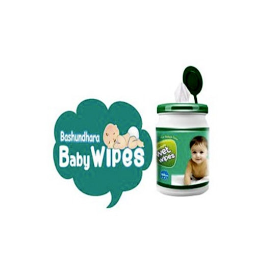Bashundhara Baby Wet Wipes Jar 120pcs-min