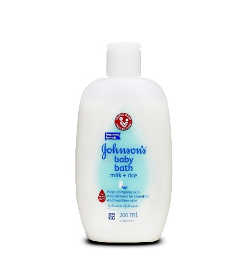 Johnson's Baby Bath Milk +Rice 200ml-min