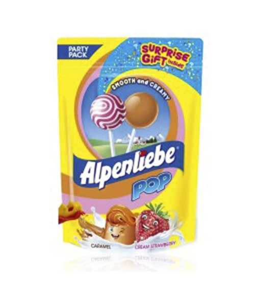 Alpenlibe Pop Caramel Cream& Strawbery Lolipop 90G-min