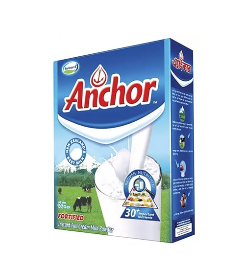 Anchor Fortified Instant Full Cream Milk Powder Box 350gm-min