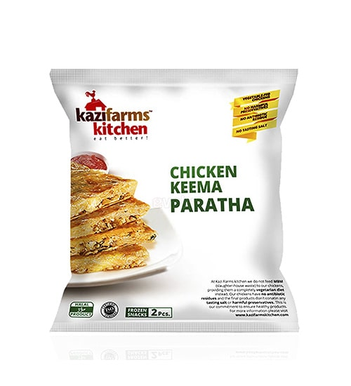 Kazi Farms Kitchen Chicken Keema Paratha (250gm)-min