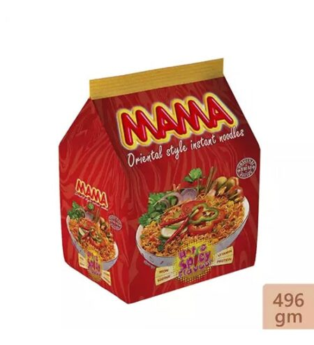 mama instant noodles hot spicy flavour 496 gm min