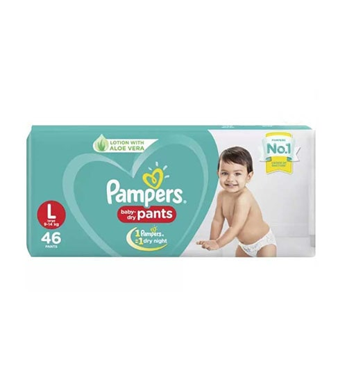 pampers baby dry pants diaper l 9 14 kg 44 pieces