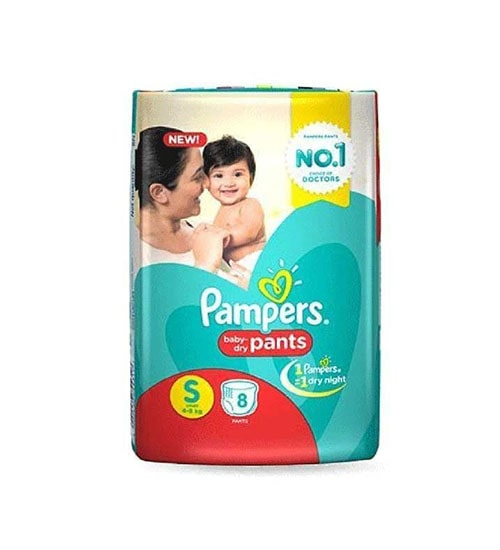 pampers baby dry pants diaper s 4 8 kg 8 pieces
