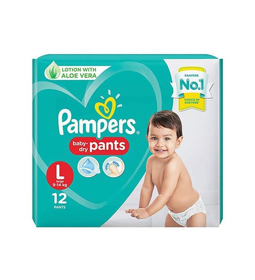 pampers diaper pants large 12 pieces economy pack