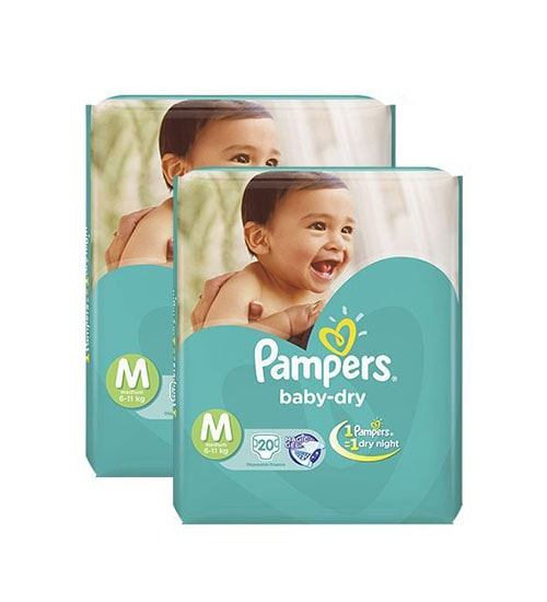 pampers tapes medium 20s diaper economy pack 6 11 kg 2 pieces combo