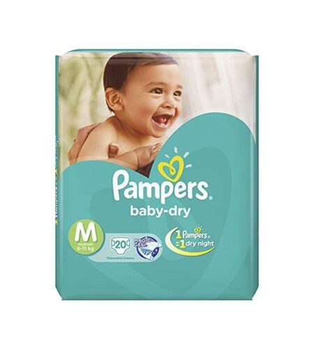 pampers tapes medium 20s diaper economy pack 6 11 kg